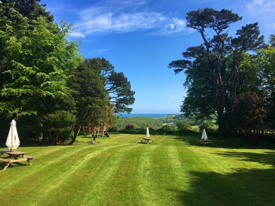 Penmorvah Manor hotel gardens